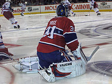 Price warming up prior to a game in the 2008–09 season. 25f9d2c63