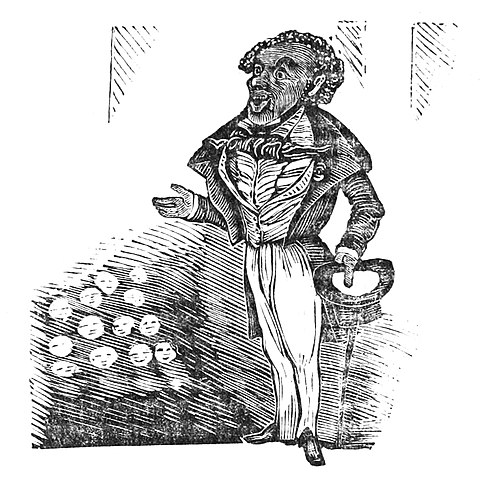 Caricature of Frederick Douglass
