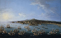 Carlos III leaving the Port of Naples, as seen from the Sea.jpg