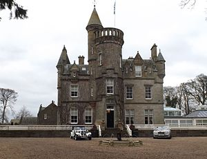 Isobel Wylie Hutchison - Carlowrie Castle, built by the Hutchison family in the mid 19th century.