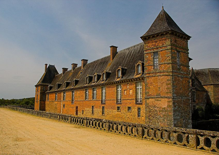 Carrouges castle (14th-17th century), Normandy, France.