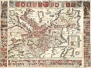 Carta itineraria europae 1520 waldseemueller watermarked
