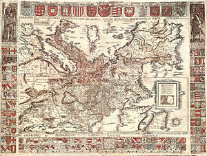 Holy Roman Empire - Carta itineraria europae (by Waldseemüller, 1520 dedicated to Emperor Charles V.)