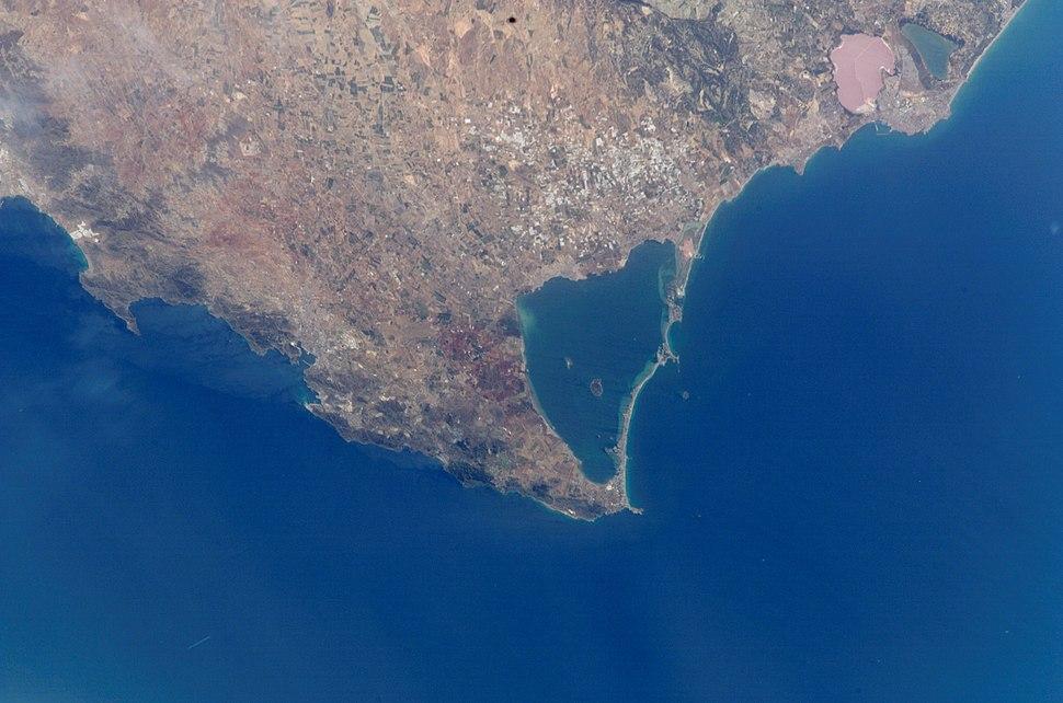 Cartagena, Mar Menor, i Cap de Pals (foto satèl·lit)