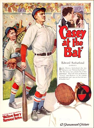 Casey at the Bat (film) - Advertisement showing Edward Sutherland as the original director