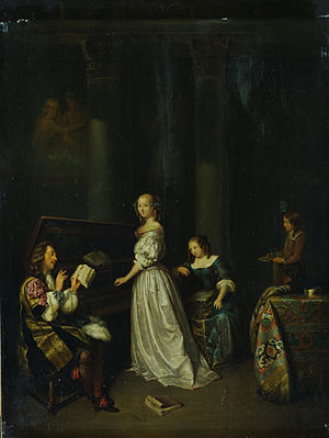 Caspar Netscher - Image: Caspar Netscher. Singing lesson