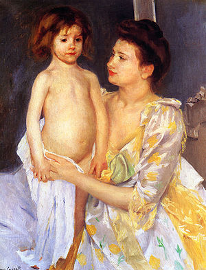 1900 in art - Image: Cassatt Mary Jules Being Dried by His Mother 1900