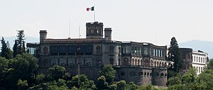 Chapultepec Castle - View of Chapultepec Castle from the Northeast