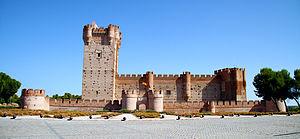 Medina del Campo - Front view of Castle of La Mota.
