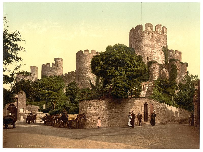 File:Castle entrance, Conway (i.e. Conwy), Wales-LCCN2001703466.jpg