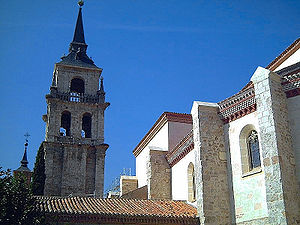Justus and Pastor - Tower of the Cathedral of the Santos Niños in Alcalá de Henares, Spain