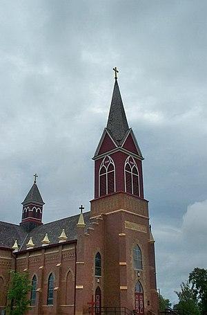 National Register of Historic Places listings in Walsh County, North Dakota - Image: Catholic Church in Warsaw, North Dakota