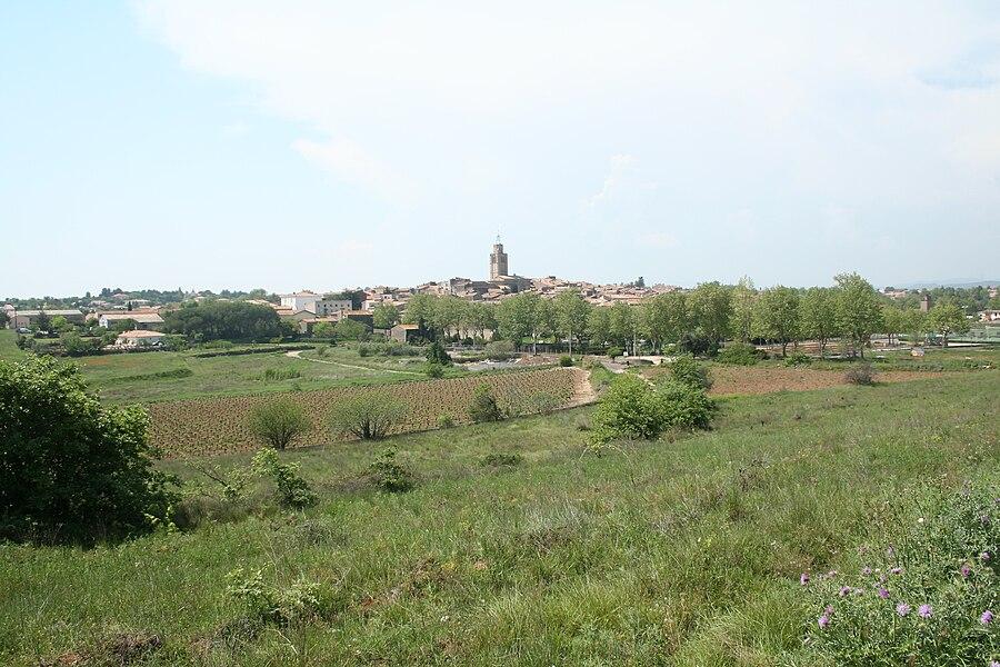 Caux (Hérault) - vue générale.