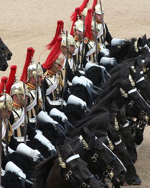 ファイル:Cavalry Trooping the Colour, 16th June 2007.jpg
