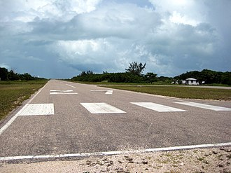 Caye Caulker Airport - Eastern edge of Caye Caulker Airport in August 2008.
