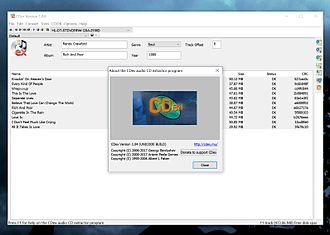 CDex - Image: Cdex 1.84 on Windows 10