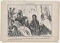 Ce qui nous prouve comme quoi il est... inutile..., from Croquis Dramatiques, published in Le Charivari, May 23, 1857 MET DP876646.jpg