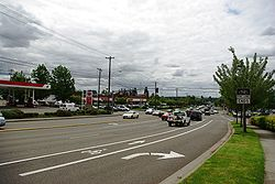 Cedar Hills Boulevard and Walker Road, looking away from the Cedar Hills CDP area