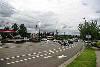 Cedar Hills, Oregon - Cedar Hills Boulevard and Walker Road, looking away from the Cedar Hills CDP area