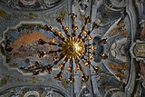 Ceiling and Chandelier of dance hall in Ca' Rezzonico (Venice).jpg