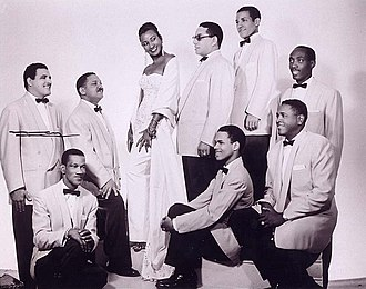 Celia Cruz - Celia Cruz in the 1950s with the members of the Sonora Matancera in Havana