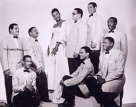 Celia Cruz in the 1950s with the members of the Sonora Matancera in Havana Celia Cruz y La Sonora Matancera.jpg