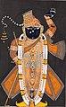 Center detail, Northwestern India, Rajasthan, Kota - Raja Ram Singh (?) worships Krishna as Brij Nathji (the bridegroom) - 2018.181 - Cleveland Museum of Art (cropped).jpg