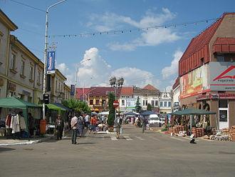 Rădăuți - Image: Centrul oraşului Rădăuţi