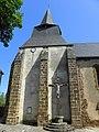 Chaillac (36) Église Saint-Pierre 01 Vue méridionale de la tour-clocher..JPG