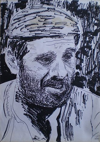 Chaim Topol - Topol's sketch of himself as Sallah Shabati