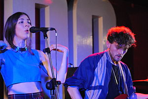 "No Angel (Beyoncé song) - Caroline Polachek (left) and Patrick Wimberly (right) of the band Chairlift worked with Beyoncé on her fifth studio album. ""No Angel"" written by Polachek was included on Beyoncé."