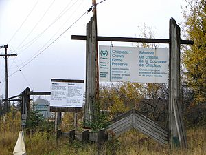 Chapleau Crown Game Preserve - Entrance sign