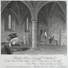 Chapter house, Landaff cathedral: to the Revd. John Hunt L.L.D. Chancellor of Landaff