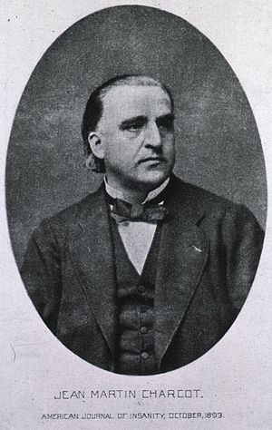 Management of Parkinson's disease - An 1893 photograph of Jean-Martin Charcot, who made important contributions to the understanding of the disease, including the proposal of anticholinergics as treatments for tremor