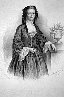 Charlotte Birch-Pfeiffer, Lithographie von Joseph Anton Bauer, 1855 (Quelle: Wikimedia)