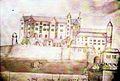 Chateau et Eglise deJoyeuse vers 1700.jpg