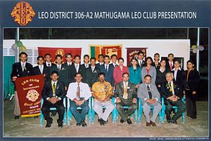 Leo clubs - Image: Chater Members of Leo Club of Matugama