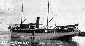 Polmadie - The SS Chauncy Maples at anchor on Lake Nyasa, four years after her launch