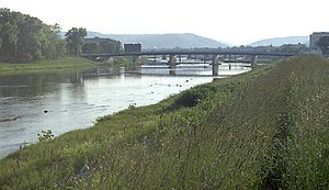 Chemung River - The Chemung River at Elmira, New York