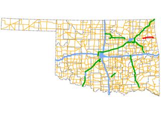Cherokee Turnpike highway in Oklahoma