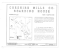 Cheshire Mills Company Boarding House, Main Street, Harrisville, Cheshire County, NH HABS NH,3-HAR,4- (sheet 1 of 3).png