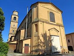 Chiesa di San Michele (Trecasali) - facciata e lato nord 2019-06-23.jpg