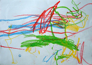 Child art - Scribble by one-year-old.