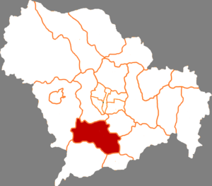 Yuanshi County - Map of Yuanshi County in Shijiazhuang prefecture