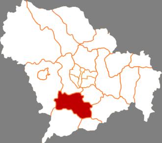 Yuanshi County - Map of Yuanshi County in Shijiazhuang prefecture