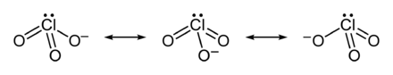 Resonanzstrukturen des Chlorat-Ions
