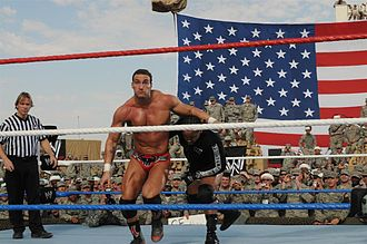 Montel Vontavious Porter - MVP wrestling Chris Masters in December 2009