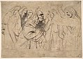 Christ and the Pharisees; verso; Christ and a Pharisee MET DP802093.jpg