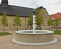 Christiansfeld brødremenighedskirken fontaine 31 maj 2015.jpg