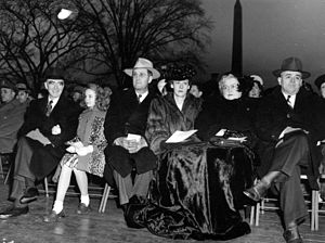 Clinton Presba Anderson - Clinton P. Anderson and wife Henrietta McCartney at the Christmas Tree Lighting Ceremony on the South Lawn of the White House, December 24, 1947.